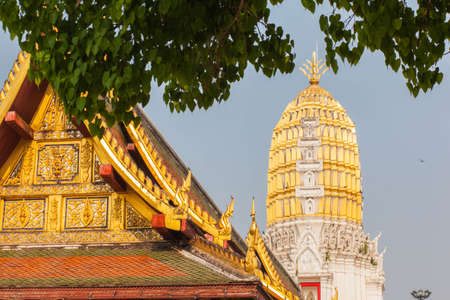 gabled: Temple in Thailand is constructed with skilled technicians made a beautiful delicacy