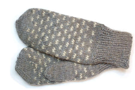 downy: hand knitted downy mitten
