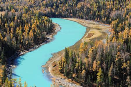 xinjiang: Paysage d'automne dans le Xinjiang en Chine