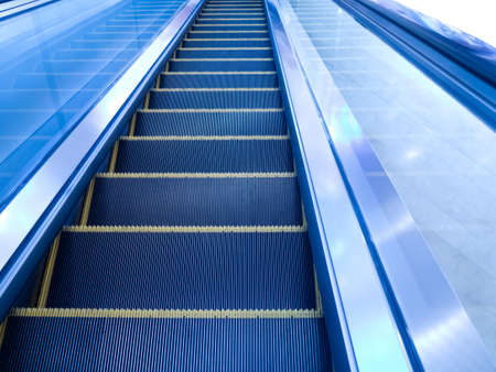 The escalator in office building photo