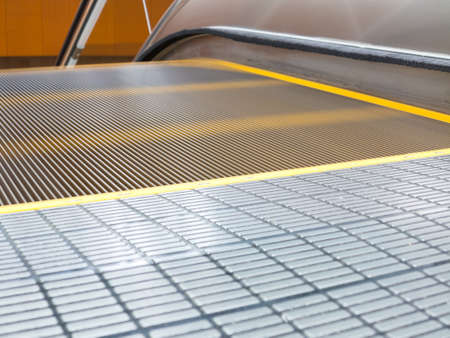 Motion blur of  escalator in building  photo