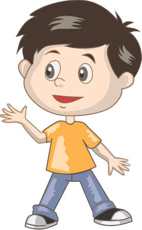 Boy vector Stock Illustratie