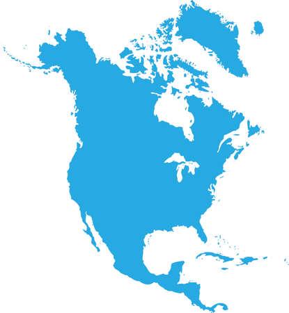 Noord-Amerika vector Stock Illustratie