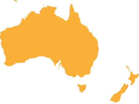 oceania: australia oceania vector Illustration