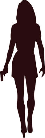 woman with gun silhouette5