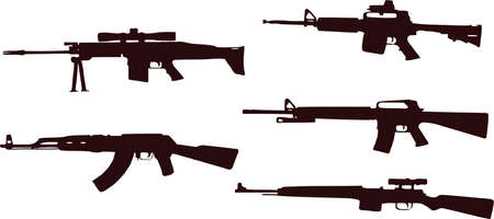 riffles weapons silhouette