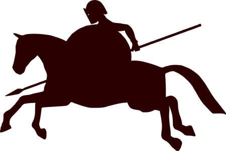 silhouette horseman 4