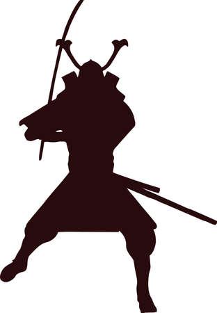 samurai silhouette 3 Illustration