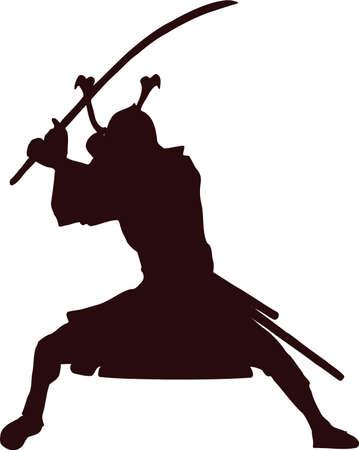 daimyo: samurai silhouette 5 Illustration