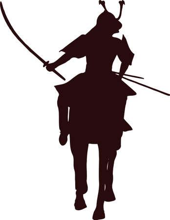 daimyo: samurai horseman silhouette 6