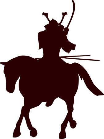 samurai horseman silhouette 7