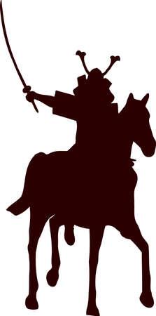 daimyo: samurai horseman silhouette 8