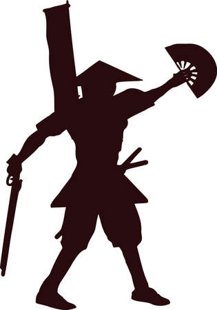 samurai with musket gun 3 Illustration