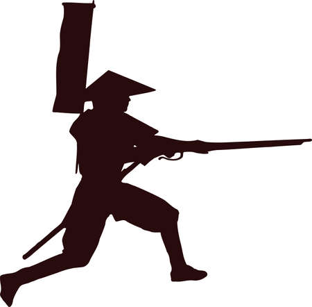 samurai with musket gun 5