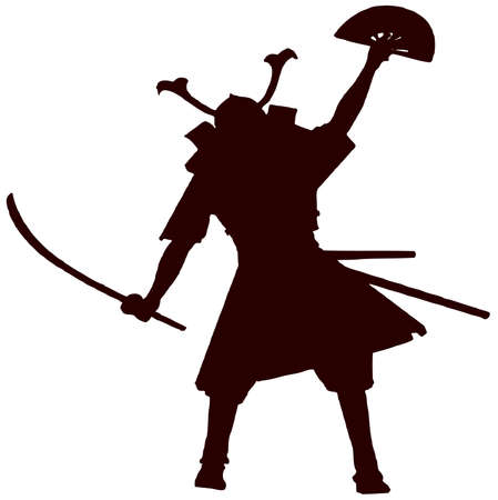 daimyo: samurai with fan