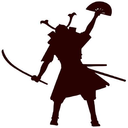 samurai with fan