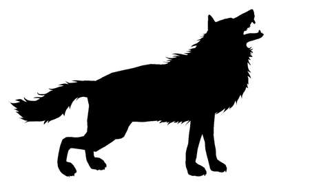 狼のシルエット 1 のイラスト素材 ベクタ Image