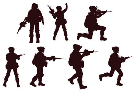 Soldier Silhouette military