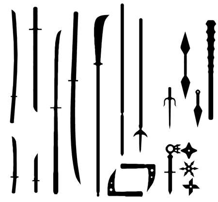 japan weapons silhouette
