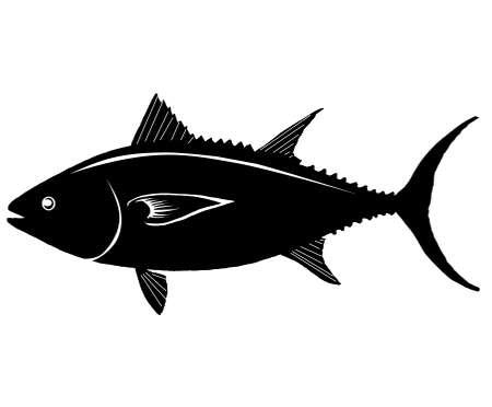 power giant: Fish Tuna Silhouette