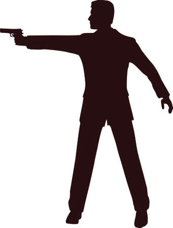 Man With Gun Silhouette 2