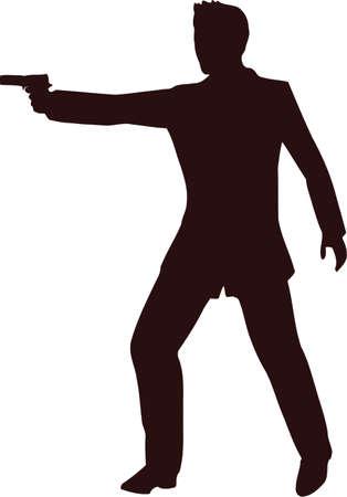 Man With Gun Silhouette 5