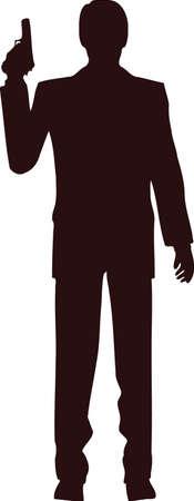 Man With Gun Silhouette 6