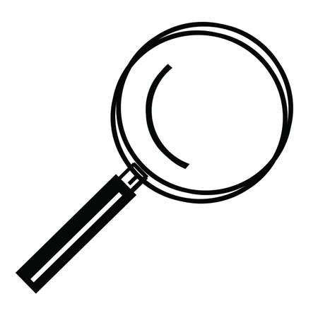 Magnifying glass Vector Art Ilustração