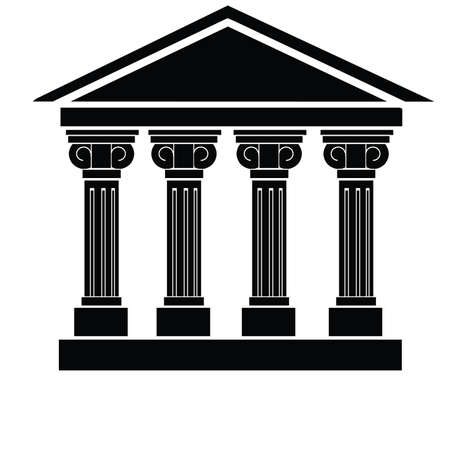 goverment: University, Library, City hall, Bank, Palace, Court or Museum Vector Art Illustration
