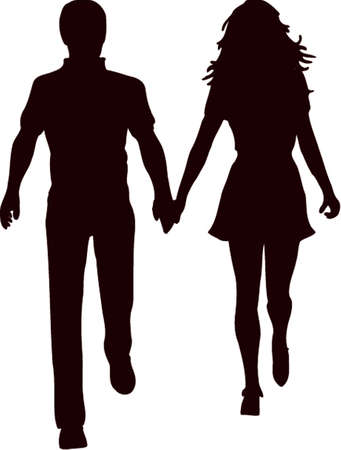 Couple Silhouette 2 Illustration