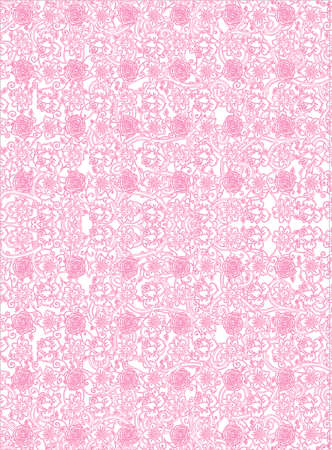 Vector  Pattern Retro Style with Floral Elements