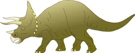 Triceratops drawing. Ilustração