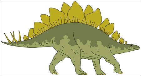 Stegosaur Drawing Ilustração