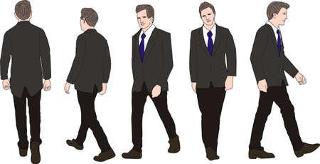Vector- Executive Businessman Walking