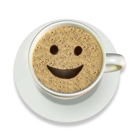 Coffee Happy Smile Banco de Imagens