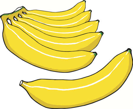 Banana icon design Ilustracja