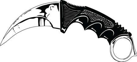 Vector - Illustration Karambit Blade 向量圖像