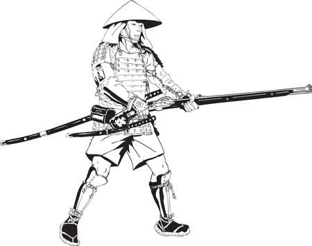 Vector - Illustration Japanese samurai gunner