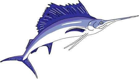 Icono de pez marlin