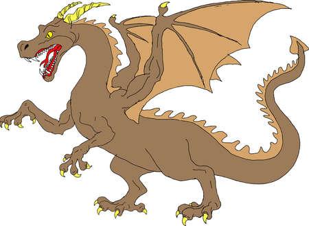 Vector - Brown Dragon Vectores