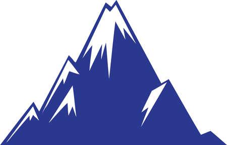 Vector - Snow Mountain Illustration