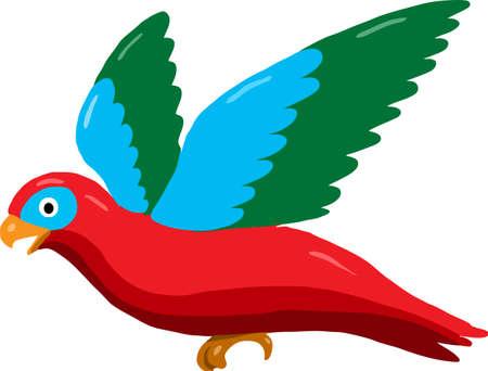 Vector - Lory or lorikeet bird