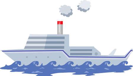 Vector - Grey Ship Illustration Illustration
