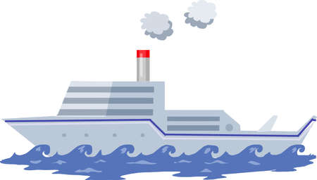 Vector - Grey Ship Illustration