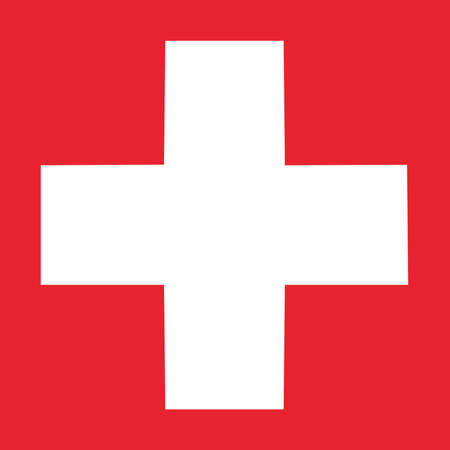 Vector - Red Cross Sign On Square Backdround Standard-Bild - 101786794
