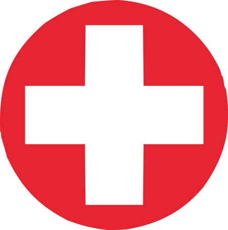 Vector - Red Cross Sign