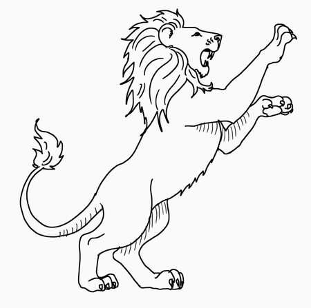 Vektor - weißer Löwe stehend