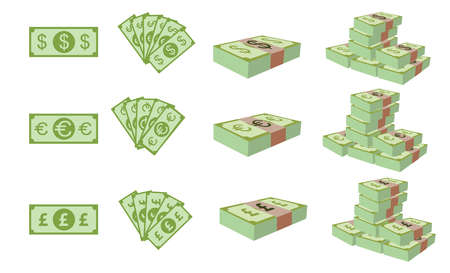 Vector - Dollar, Euro and Poundsterling