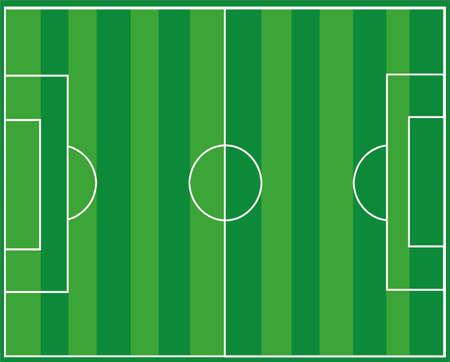 Banque d'images - Terrain de football Vecteurs