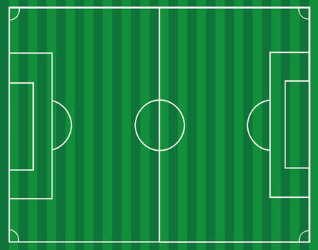 Vector - Football Soccer Field